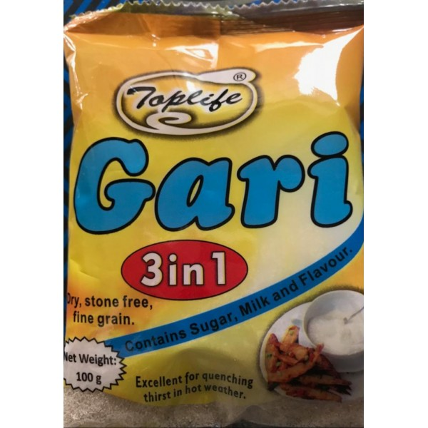 Toplife® 3 in 1 Gari (with Milk + Sugar, 100g X 36 Sachets)