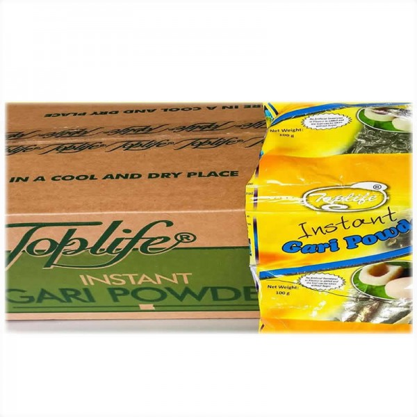 Toplife®Gari, Bio-fortified Vitamin A YellowBland (36 X 100g Sachets)